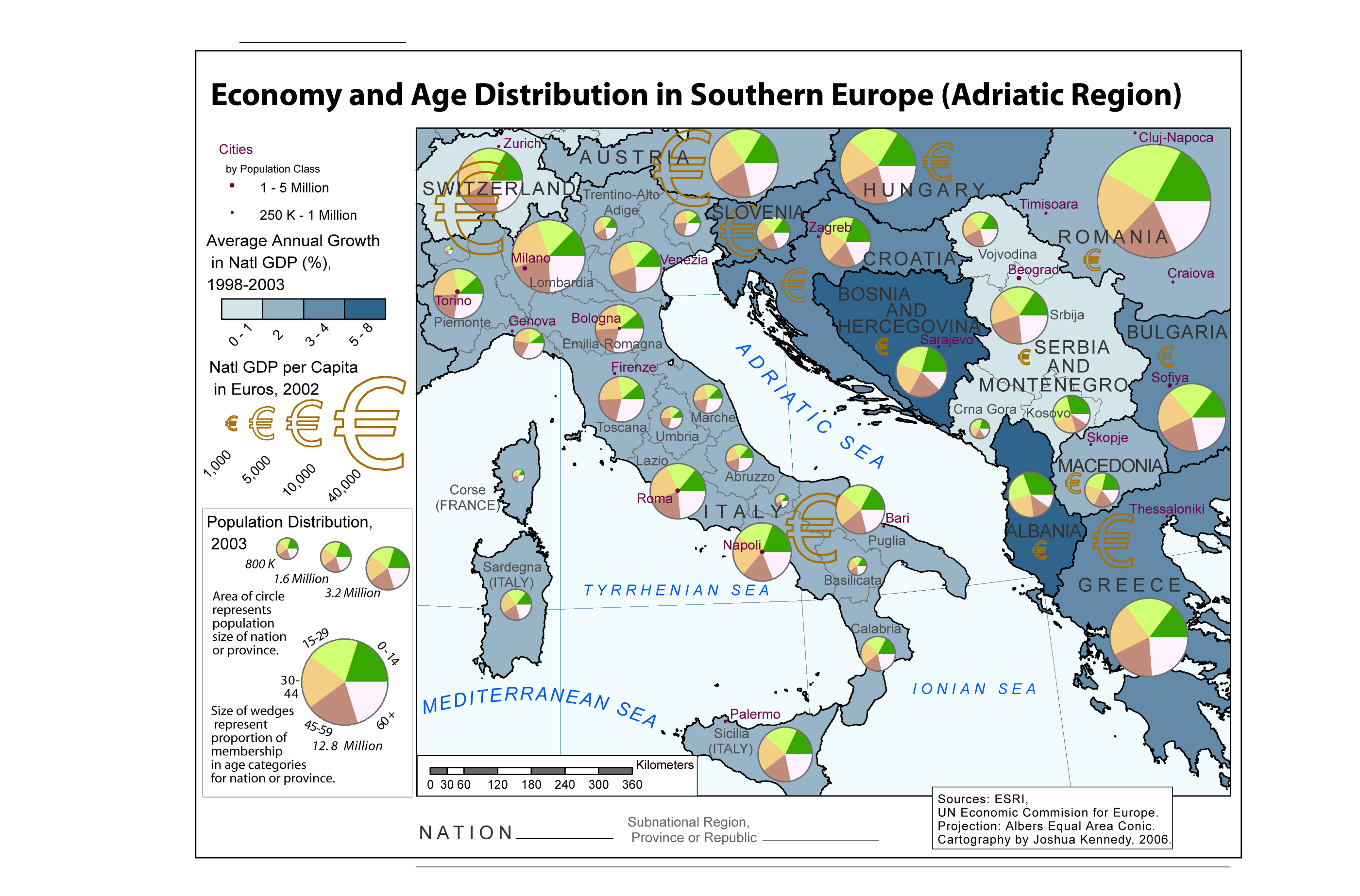 This Map Developed Out Of An Exploration Of Age Distribution Trends In Europe Lower Fertility Rates And Longer Life Expectancy Has Led To An Aging Of The