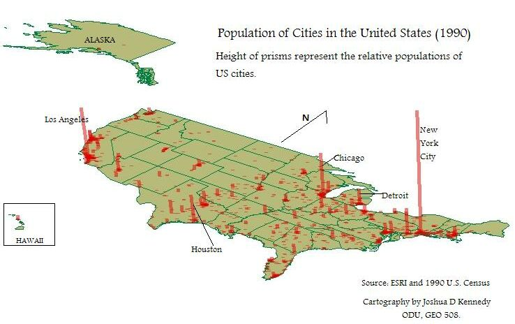 Map Of America States And Cities America Map Usa Map Bing Images - Population density us cities map